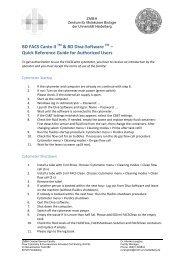 User Guide BD FACSCanto II - ZMBH