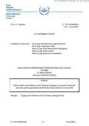 No. ICC-01/04-01/06 9 avril 2013 Original : français N° : ICC-01/04 ...