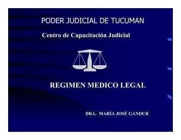 Regimen Medico Legal I - Poder Judicial Tucumán