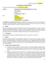 Accord de commandite no 2 - Exportation et développment ... - EDC