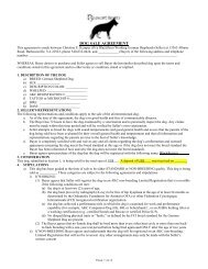 DOG SALE AGREEMENT - Blackthorn Working German Shepherds