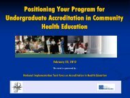 Presentation Slides - Society for Public Health Education