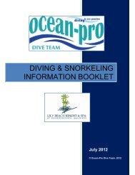 DIVING & SNORKELING INFORMATION BOOKLET