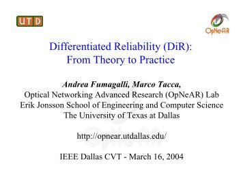 Differentiated Reliability (DiR): From Theory to Practice - Cvt-dallas.org