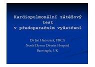 kardiopulmonální zátěžový test v předoperačním vyšetření