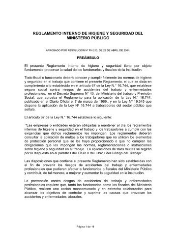 50 free magazines from fiscaliadechile cl for Ministerio de seguridad telefonos internos