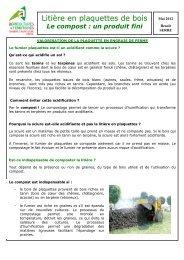 Litière en plaquettes de bois - compost - Chambre d'agriculture du ...