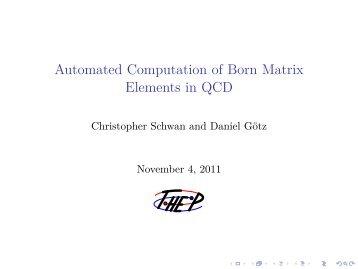 Automated Computation of Born Matrix Elements in QCD