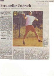 Teil 1 - Tennis- und Hockey-Club Rot-Weiß Bergisch Gladbach