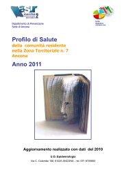 Profilo di Salute Anno 2011 - EpiCentro - Istituto Superiore di Sanità