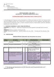 Alunos regulares - Centro de Pesquisas René Rachou - Fiocruz