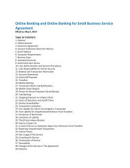 Internet Business Banking Service Agreement - Union Bank