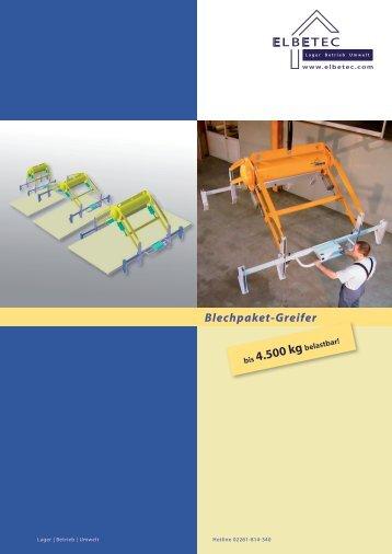 Blechpaket-Greifer - ELBETEC GmbH & Co. KG