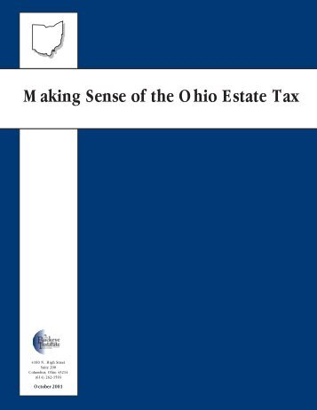 Making Sense of the Ohio Estate Tax - Buckeye Institute