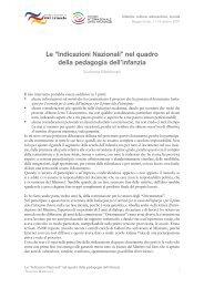 """Le """"Indicazioni Nazionali"""" nel quadro della ... - Edizioni Junior"""