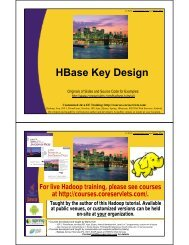 HBase Key Design - Custom Training Courses - Coreservlets.com
