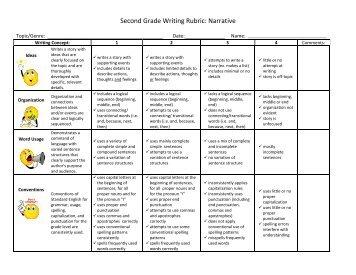 narrative writing second grade
