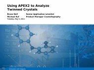 Bruker AXS Using APEX2 to Analyze Twinned Crystals Webinar ...