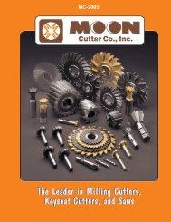 The Leader in Milling Cutters, Keyseat Cutters ... - JW Donchin CO.