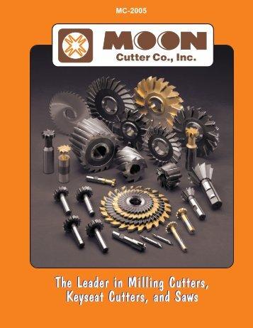 The Leader in Milling Cutters, Keyseat Cutters ... - JW Donchin CO.