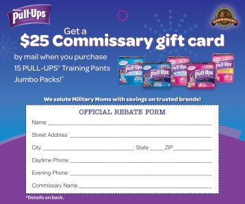 25 Commissary gift card $25 Commissary gift card - Huggies