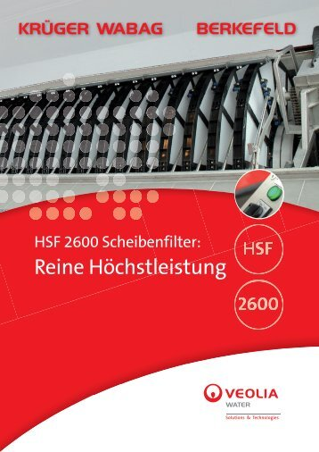 HSF 2600 Scheibenfilter - Krüger WABAG