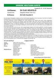 A-Klasse: SV DJK HEUFELD - TuS Junior Team