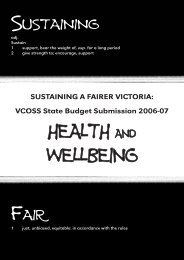 HEALTH AND WELLBEING - Victorian Council of Social Service