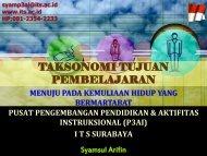 Materi Taksonomi Tujuan Pembelajaran - Blog Sivitas STIKOM ...