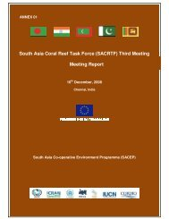 Report of the 3rd Meeting of the South Asia Coral Reef Task Force