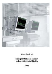 Deutscher Bericht 08 - Transplantation (USZ) - UniversitätsSpital ...