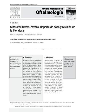 Síndrome Urrets-Zavalia. Reporte de caso y revisión de la literatura