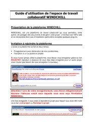 Guide d'utilisation de l'espace de travail collaboratif WINDCHILL