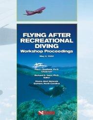 FLYING AFTER RECREATIONAL DIVING - Divers Alert Network
