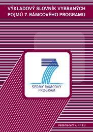 výkladový slovník vybraných pojmů 7. rámcového programu - 7. RP