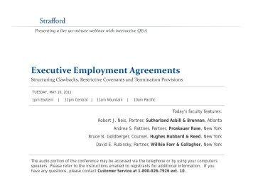 Executive Employment Agreements   Strafford