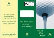 NZ Winter Golf - The Club Company