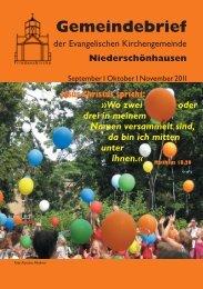 2011 September – Oktober – November - Friedenskirche ...