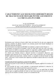 caracteristici ale siguranţei ghidării în regim de tracţiune şi de ...