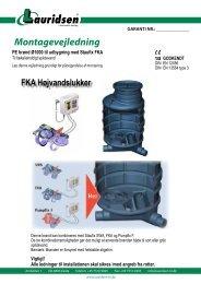 PE brønd Ø1000 til udbygning med FKA højvandslukkere