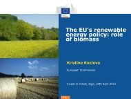 The EU's renewable energy policy: role of biomass - Invest in Forest