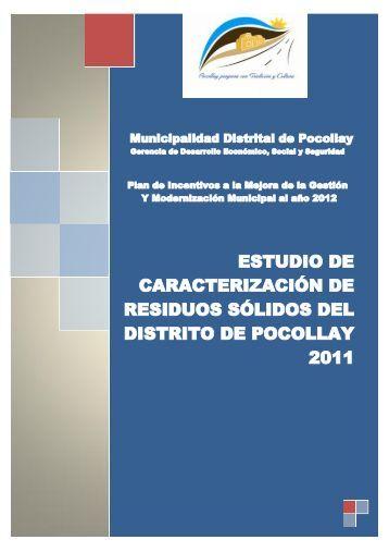 estudio de caracterización de residuos sólidos del distrito de ...