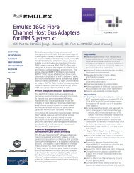 LightPulse LPe16000/LPe16002 Data Sheet - Emulex