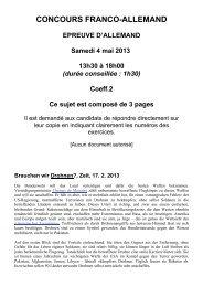CONCOURS FRANCO-ALLEMAND EPREUVE D ... - Sciences Po Aix