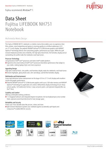 data sheet fujitsu lifebook ah530 notebook The fujitsu lifebook ah531 is a solid and reliable notebook to overcome your daily challenges choose between different design variants: a classy black, an outstanding garnet-red finish or a stylish mocca-brown.