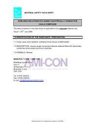 MATERIAL SAFETY DATA SHEET SHIELDING ... - AMI-CON