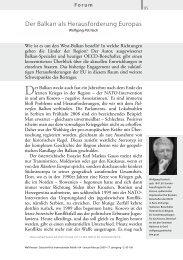 Der Balkan als Herausforderung Europas - Wolfgang Petritsch