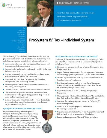 ProSystem fx® Tax – Individual System - CCH