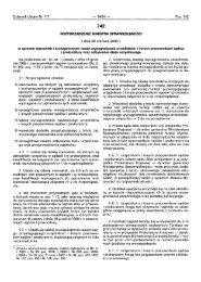 742 ROZPORZĄDZENIE MINISTRA sPRAwlEDuwoścl