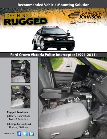 Recommended Vehicle Mounting Solution Ford ... - Gamber Johnson